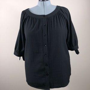 🌸2/$20 White Stag 2x 18/20W black blouse
